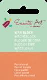 AE Nr.34 wasblokjes 1 st - pastel coral / Blocs de Art Encaustique 1 pcs - pastel corail / Arts Encaustic Blöcke 1 St - pastel coral_9