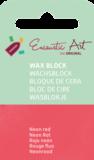 AE Nr.36 wasblokjes 1 st - neonrood / Blocs de Art Encaustique 1 pcs - fluo rouge / Arts Encaustic Blöcke 1 St - neonrot_9