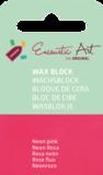 AE Nr.37 wasblokjes 1 st - neonpink / Blocs de Art Encaustique 1 pcs - fluo rose / Arts Encaustic Blöcke 1 St - neonrosa_9