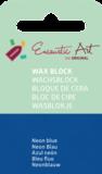 AE Nr.41 wasblokjes 1 st - neonblauw / Blocs de Art Encaustique 1 pcs - fluo bleu / Arts Encaustic Blöcke 1 St - neonblau_9