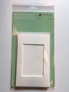Passepartout kaarten + envelop, rechthoek luxe