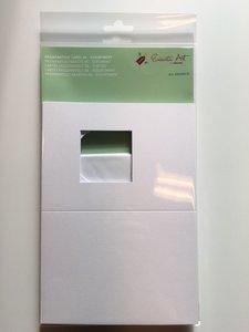 Passepartout kaarten + envelop, vierkant