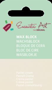 AE Nr.35 wasblokjes 1 st - pastel cream / Blocs de Art Encaustique 1 pcs - pastel créme / Arts Encaustic Blöcke 1 St - pastel cream