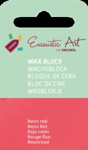 AE Nr.36 wasblokjes 1 st - neonrood / Blocs de Art Encaustique 1 pcs - fluo rouge / Arts Encaustic Blöcke 1 St - neonrot