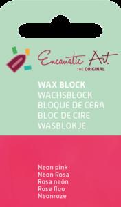 AE Nr.37 wasblokjes 1 st - neonpink / Blocs de Art Encaustique 1 pcs - fluo rose / Arts Encaustic Blöcke 1 St - neonrosa