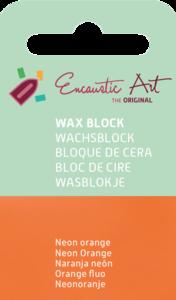 AE Nr.38 wasblokjes 1 st - neonoranje / Blocs de Art Encaustique 1 pcs - fluo orange / Arts Encaustic Blöcke 1 St - neonorange
