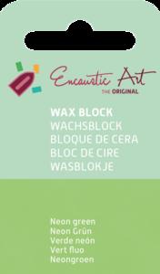 AE Nr.40 wasblokjes 1 st - neongroen / Blocs de Art Encaustique 1 pcs - fluo vert / Arts Encaustic Blöcke 1 St - neongrün