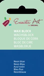 AE Nr.41 wasblokjes 1 st - neonblauw / Blocs de Art Encaustique 1 pcs - fluo bleu / Arts Encaustic Blöcke 1 St - neonblau