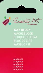 AE Nr.42 wasblokjes 1 st - magenta / Blocs de Art Encaustique 1 pcs - magenta /Arts Encaustic Blöcke 1 St - magenta