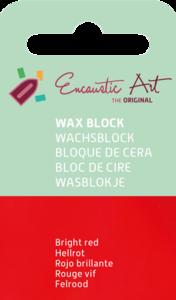 AE Nr.43 wasblokjes 1 st - felrood / Blocs de Art Encaustique 1 pcs - rouge vif / Arts Encaustic Blöcke 1 St - feuerrot