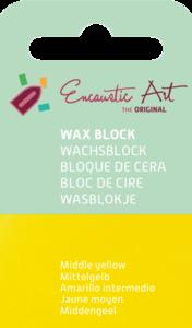 AE Nr.44 wasblokjes 1 st - middengeel / Blocs de Art Encaustique 1 pcs - jaune moyen / Arts Encaustic Blöcke 1 St - mittel gelb