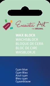 AE Nr.46 wasblokjes 1 st - cyan blauw / Blocs de Art Encaustique 1 pcs - cyan bleu / Arts Encaustic Blöcke 1 St - cyan blau