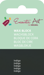 AE Nr.47 wasblokjes 1 st - indigo / Blocs de Art Encaustique 1 pcs - indigo / Arts Encaustic Blöcke 1 St - indigo