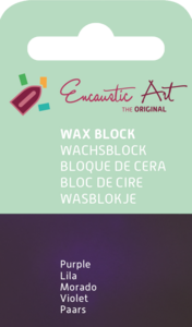 AE Nr.48 wasblokjes 1 st - paars / Blocs de Art Encaustique 1 pcs - pourpre / Arts Encaustic Blöcke 1 St - purpur